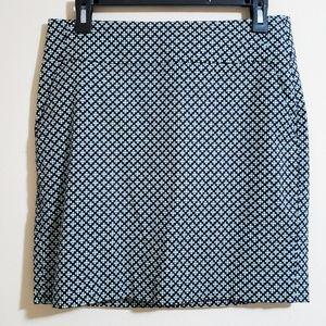 Ann Taylor Blue/Green Skirt Size 6 NWOT
